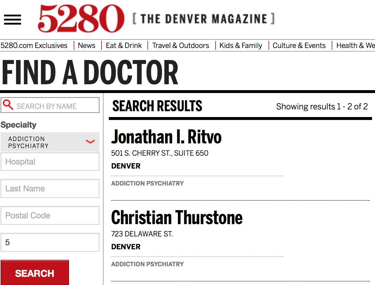 Thurstone among 2014 'Top Docs'