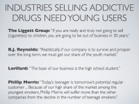Drug industries target kids